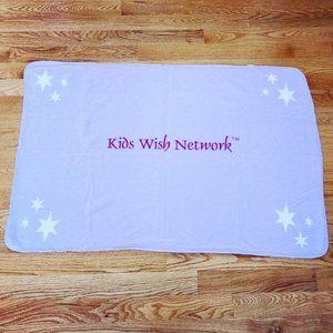 Purple Kids Wish Network Fleece Blanket